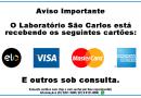 Laboratório São Carlos passa a receber cartões de crédito e débito